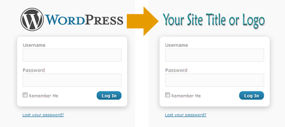 Custom login logo in wordpress theme